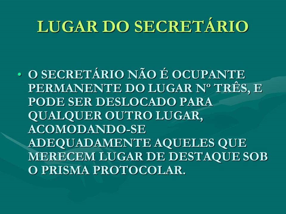 LUGAR DO SECRETÁRIO