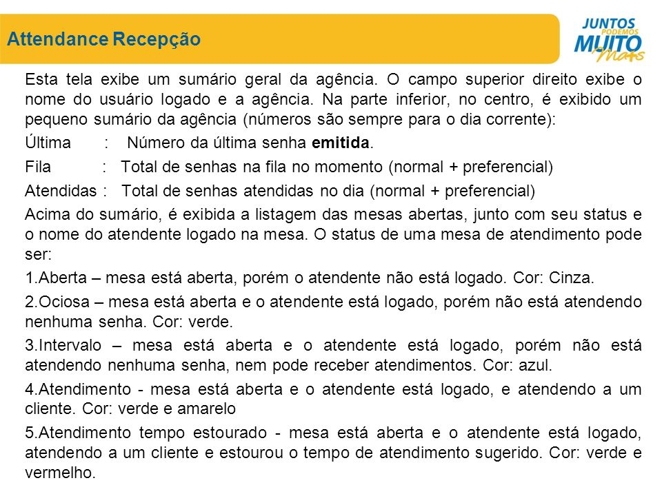 Attendance Recepção