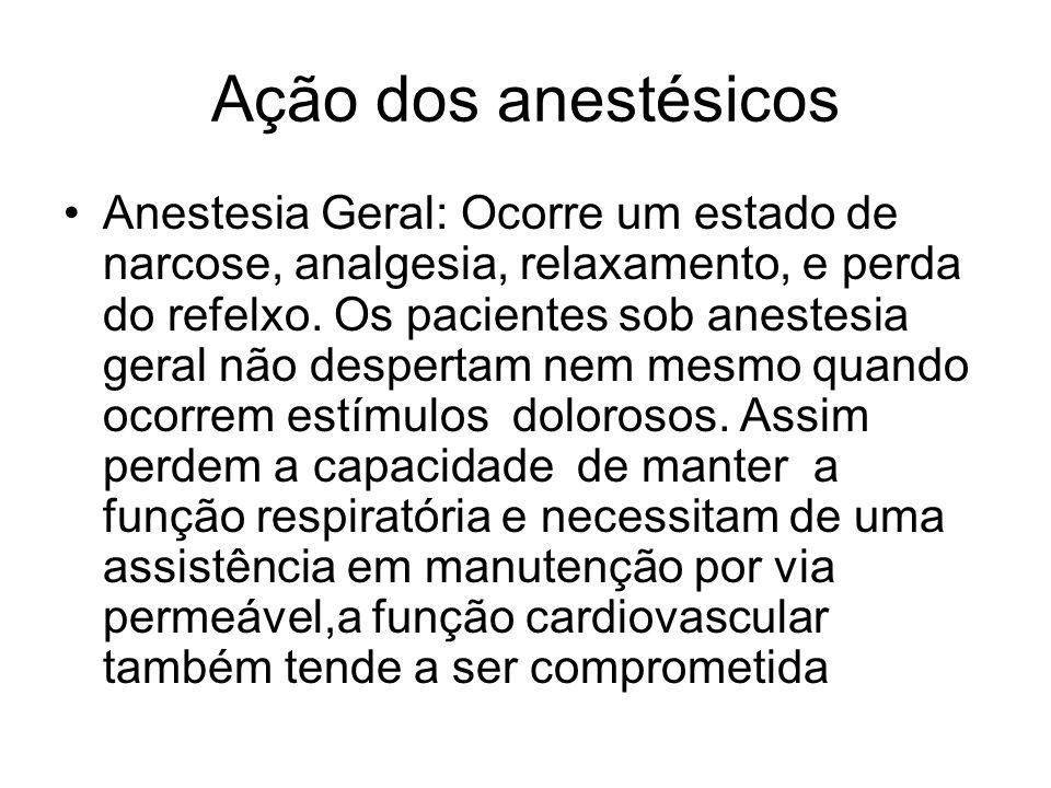 Ação dos anestésicos