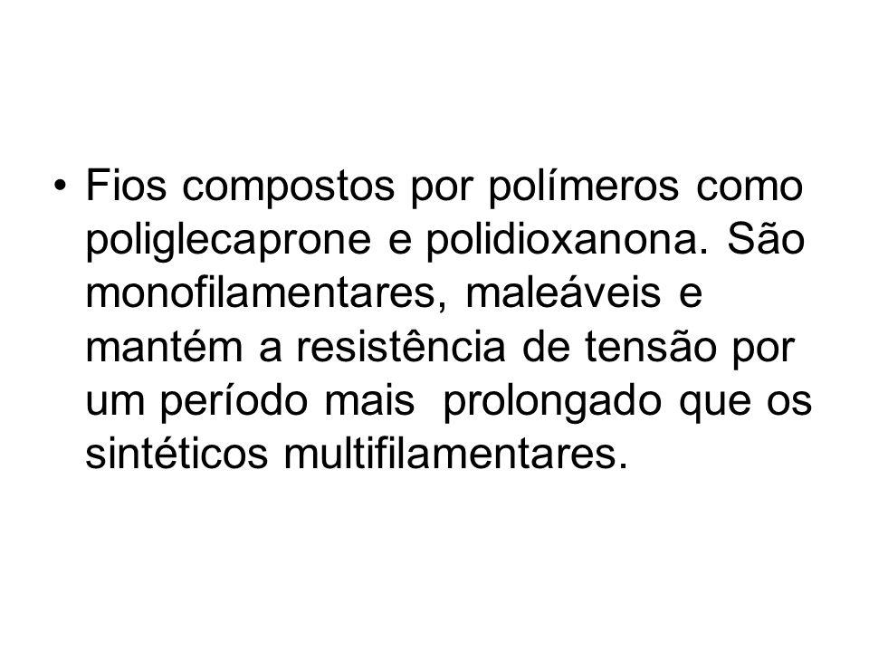 Fios compostos por polímeros como poliglecaprone e polidioxanona