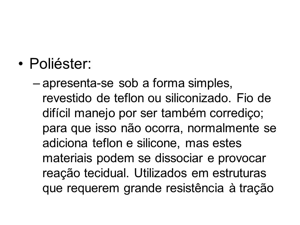 Poliéster: