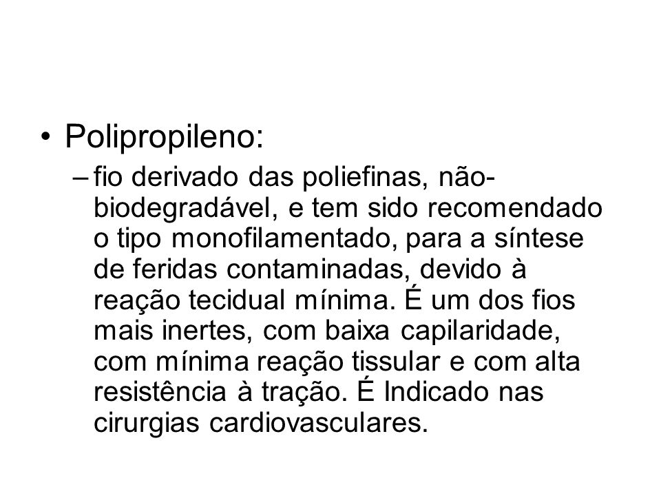 Polipropileno: