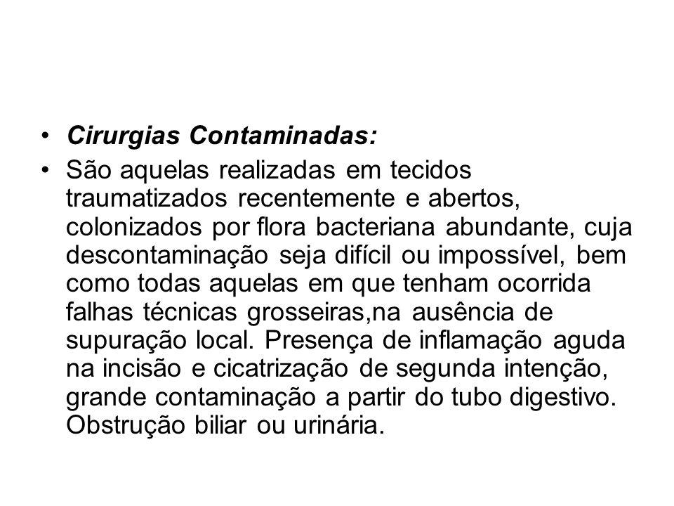 Cirurgias Contaminadas: