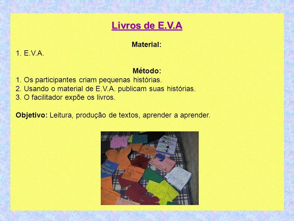Livros de E.V.A Material: 1. E.V.A.