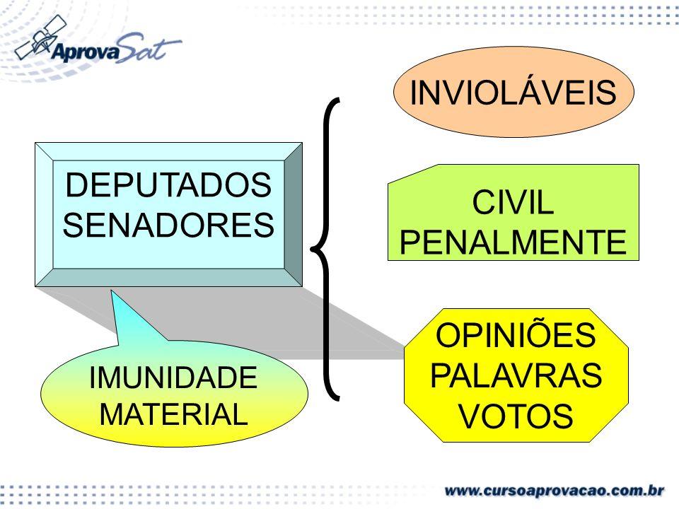 INVIOLÁVEIS DEPUTADOS SENADORES CIVIL PENALMENTE OPINIÕES PALAVRAS