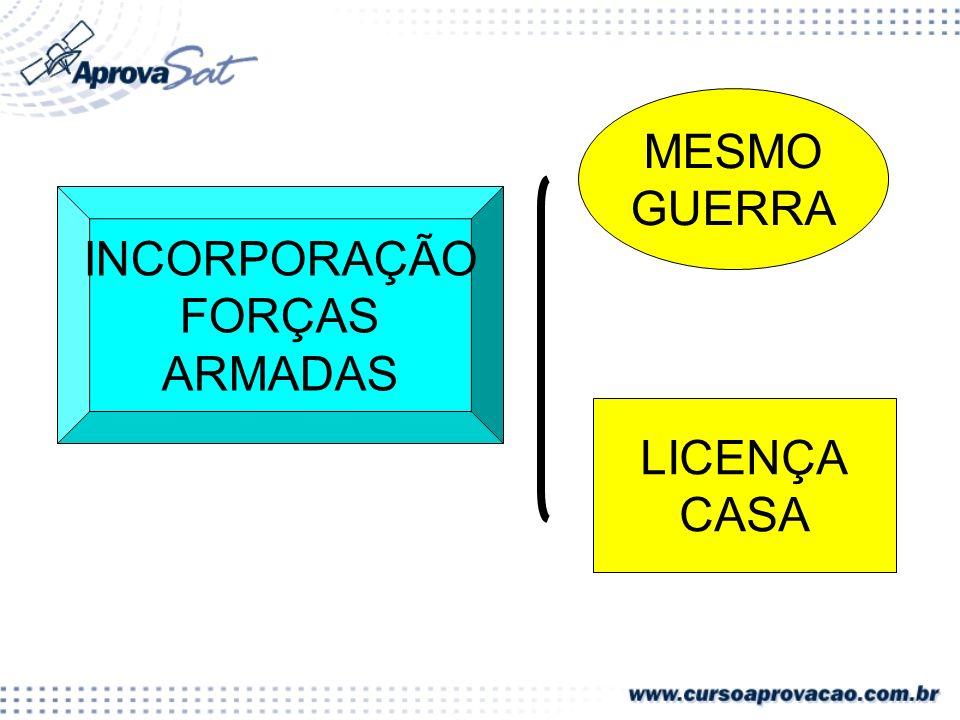MESMO GUERRA INCORPORAÇÃO FORÇAS ARMADAS LICENÇA CASA