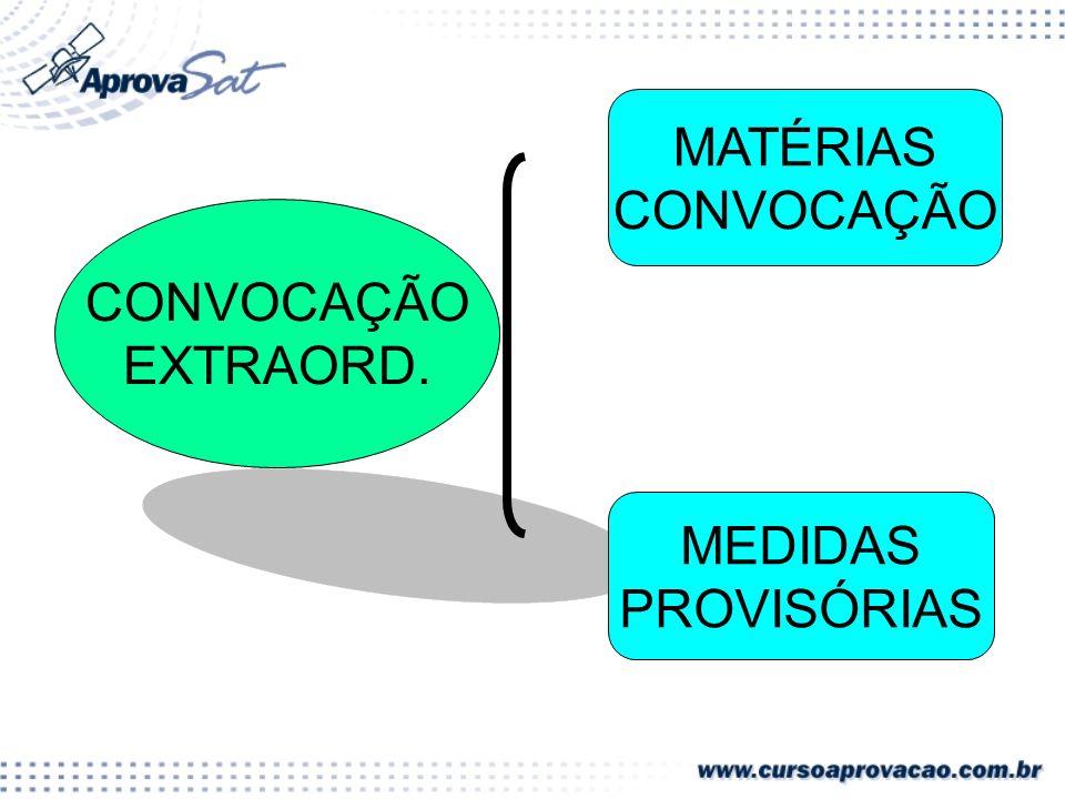 MATÉRIAS CONVOCAÇÃO CONVOCAÇÃO EXTRAORD. MEDIDAS PROVISÓRIAS