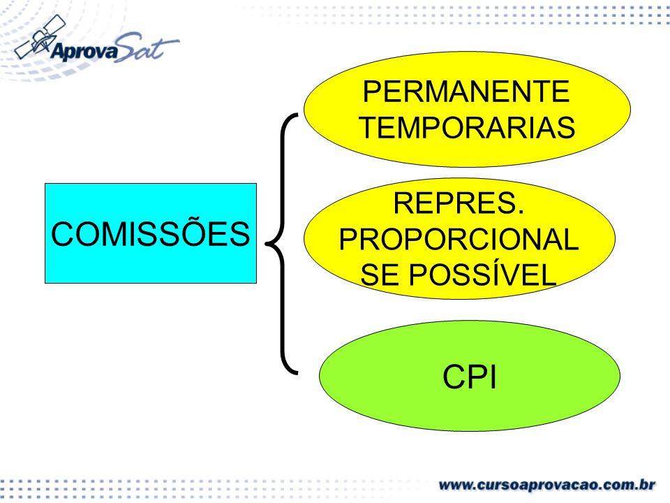 PERMANENTE TEMPORARIAS REPRES. PROPORCIONAL SE POSSÍVEL COMISSÕES CPI