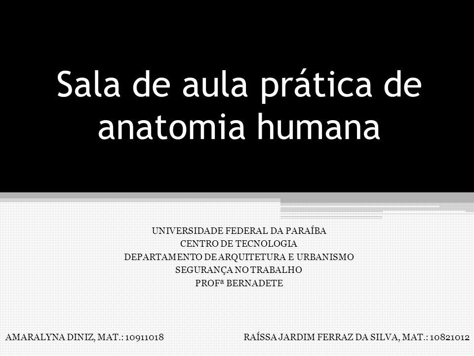 Sala de aula prática de anatomia humana