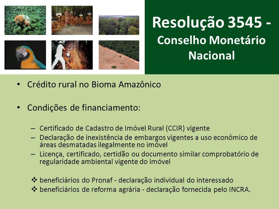 Resolução 3545 - Conselho Monetário Nacional
