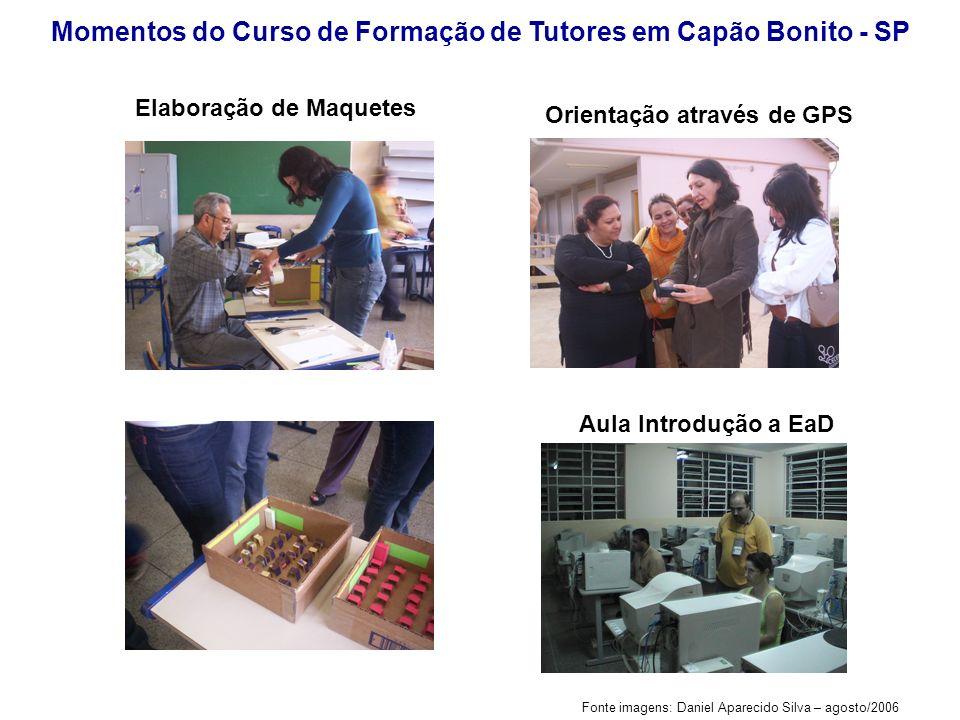 Momentos do Curso de Formação de Tutores em Capão Bonito - SP