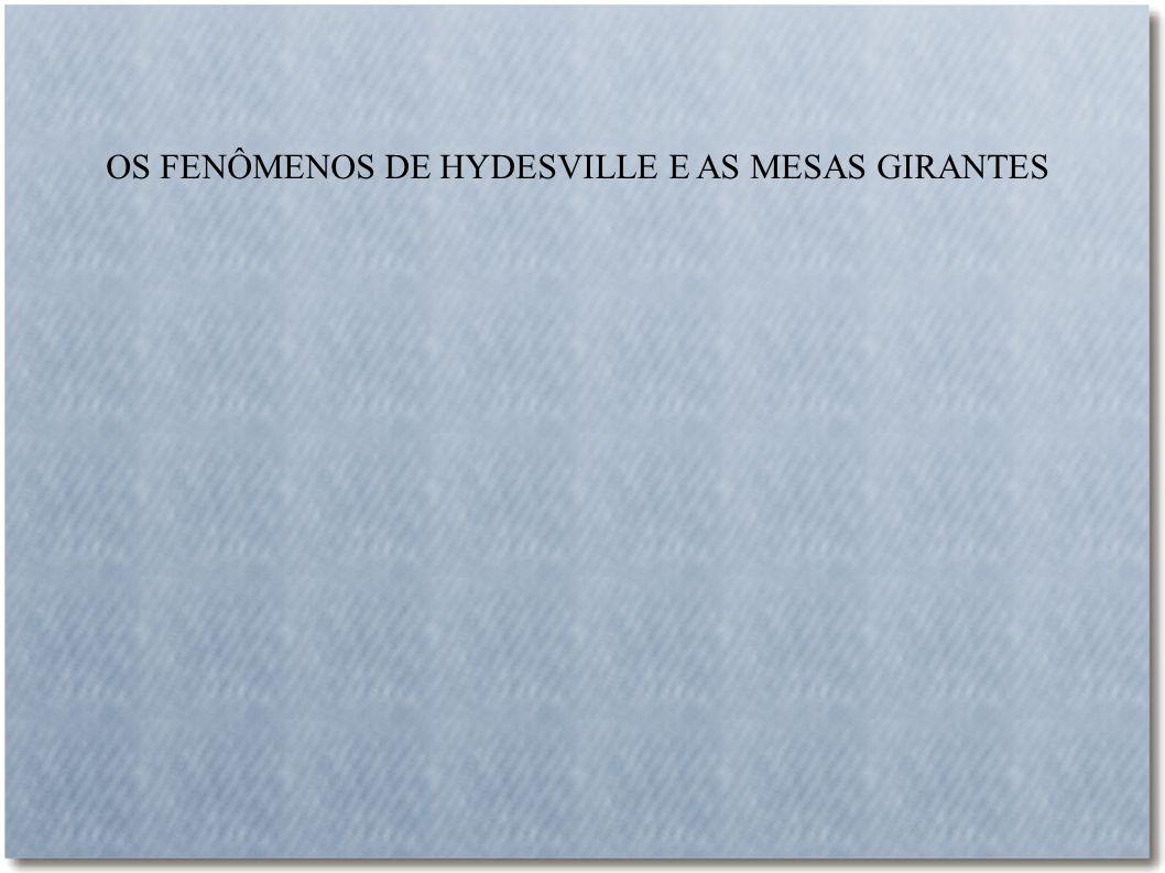 OS FENÔMENOS DE HYDESVILLE E AS MESAS GIRANTES