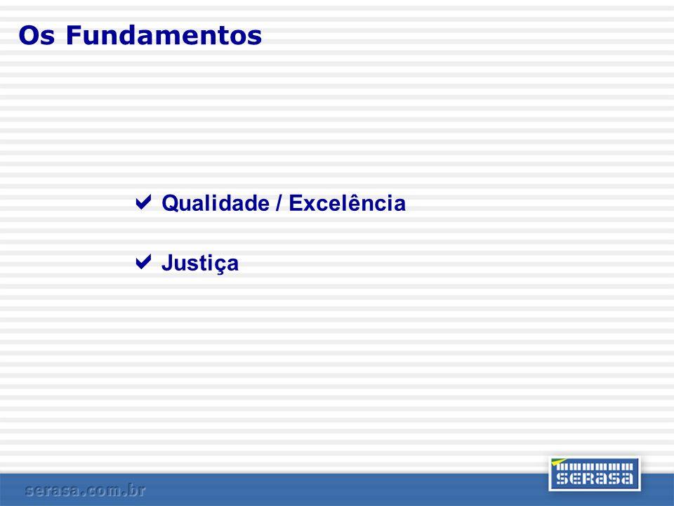 Os Fundamentos Qualidade / Excelência Justiça
