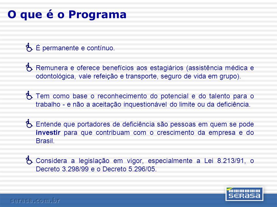 O que é o Programa É permanente e contínuo.