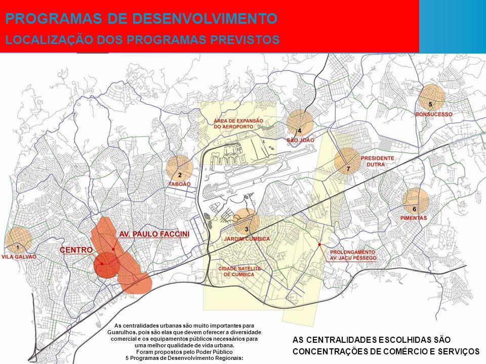5 Programas de Desenvolvimento Regionais: