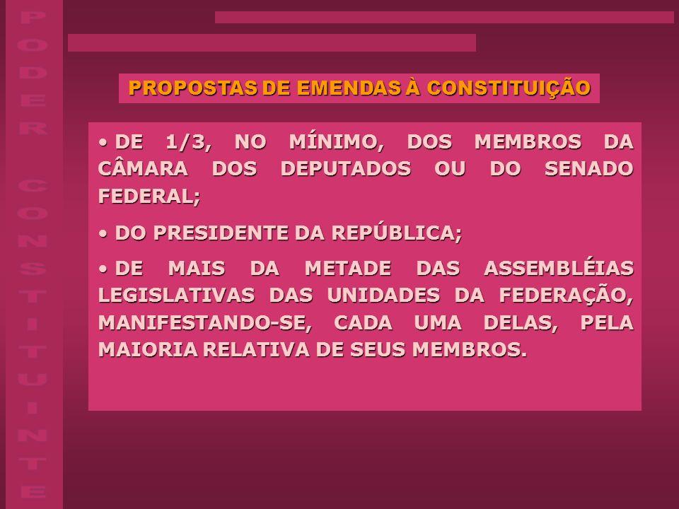 PROPOSTAS DE EMENDAS À CONSTITUIÇÃO