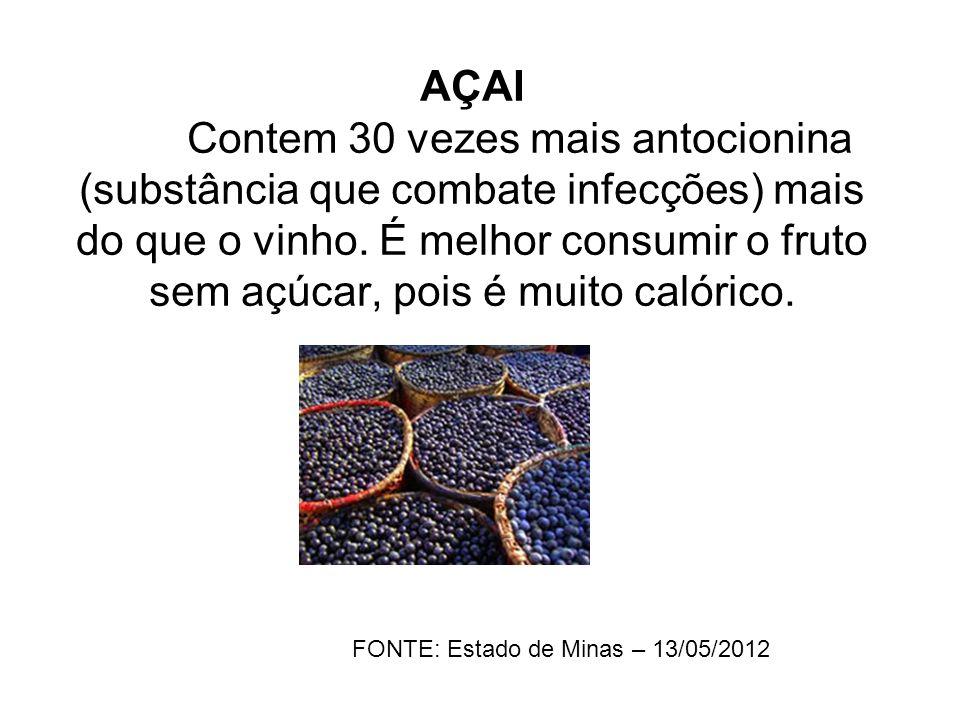 FONTE: Estado de Minas – 13/05/2012