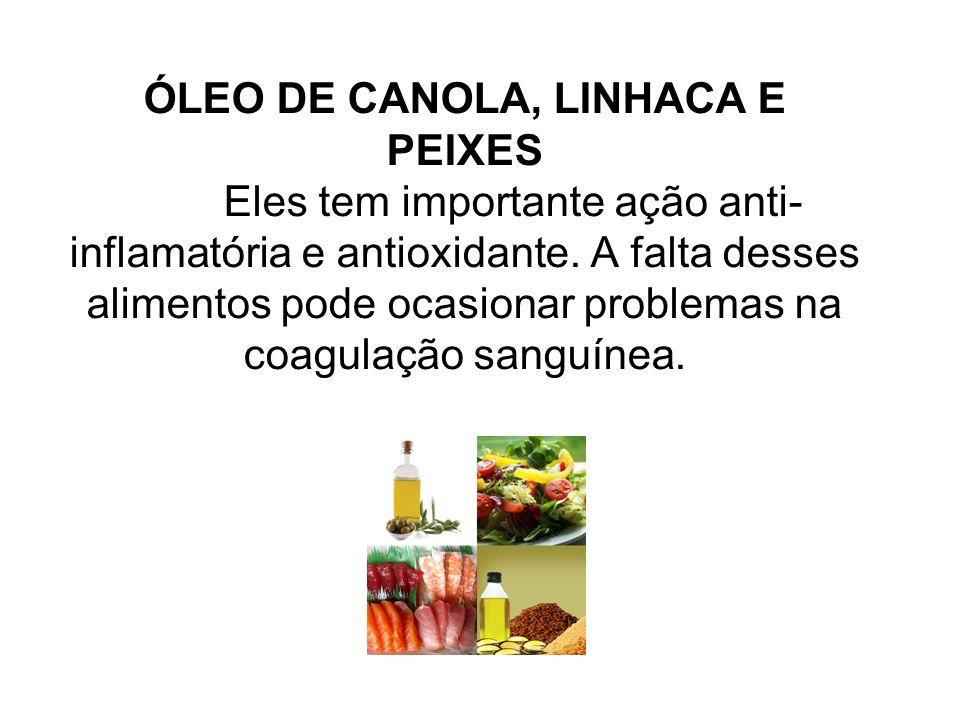ÓLEO DE CANOLA, LINHACA E PEIXES