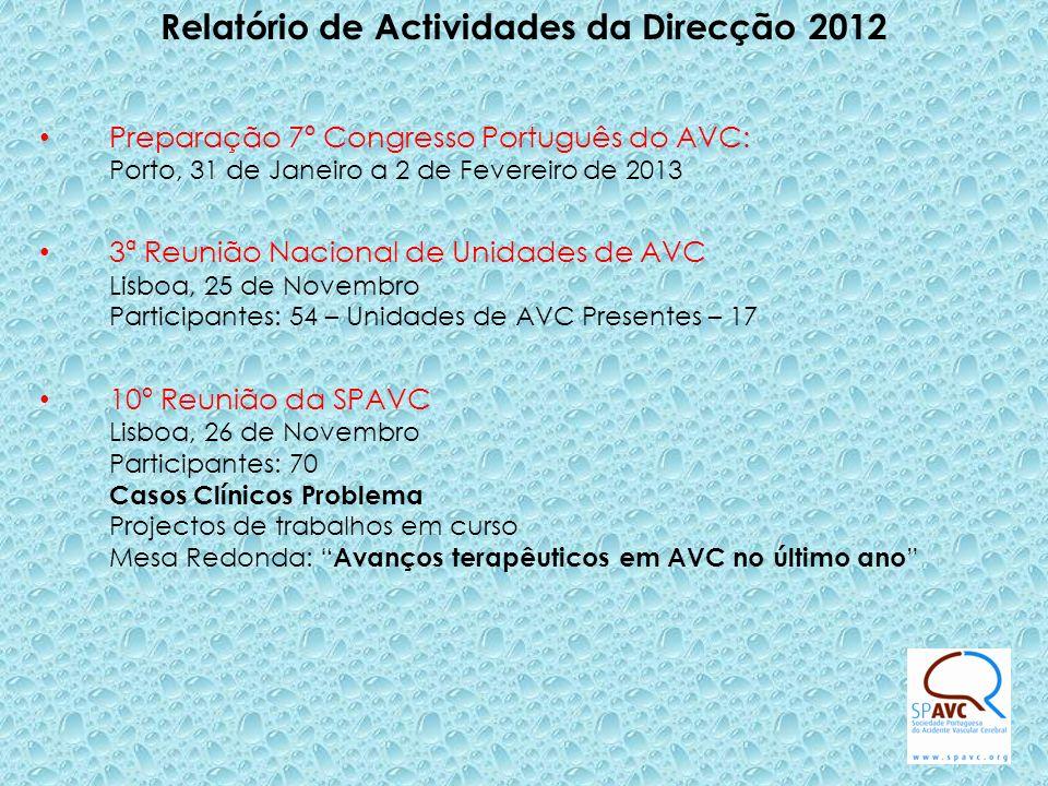 Relatório de Actividades da Direcção 2012