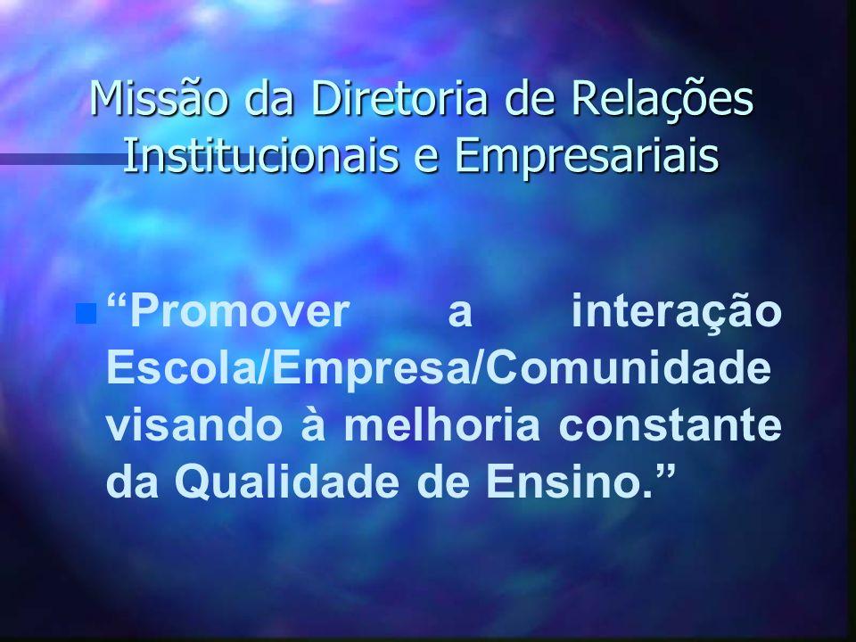 Missão da Diretoria de Relações Institucionais e Empresariais