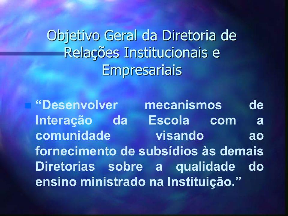 Objetivo Geral da Diretoria de Relações Institucionais e Empresariais