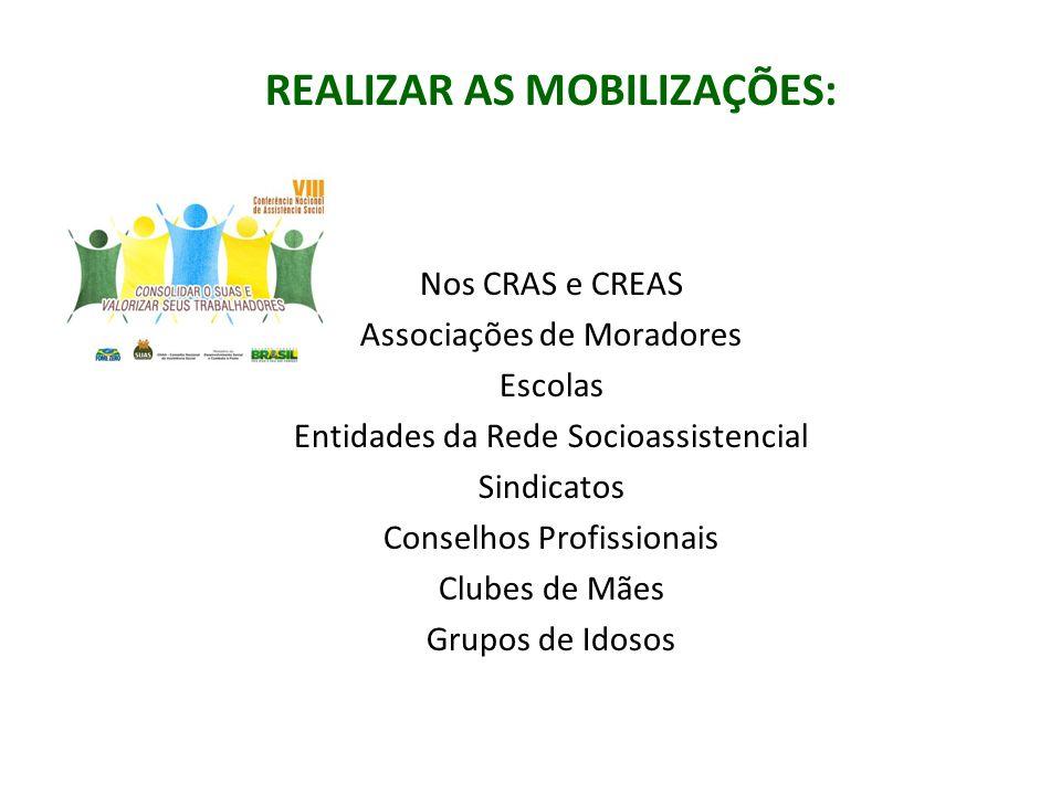 REALIZAR AS MOBILIZAÇÕES: