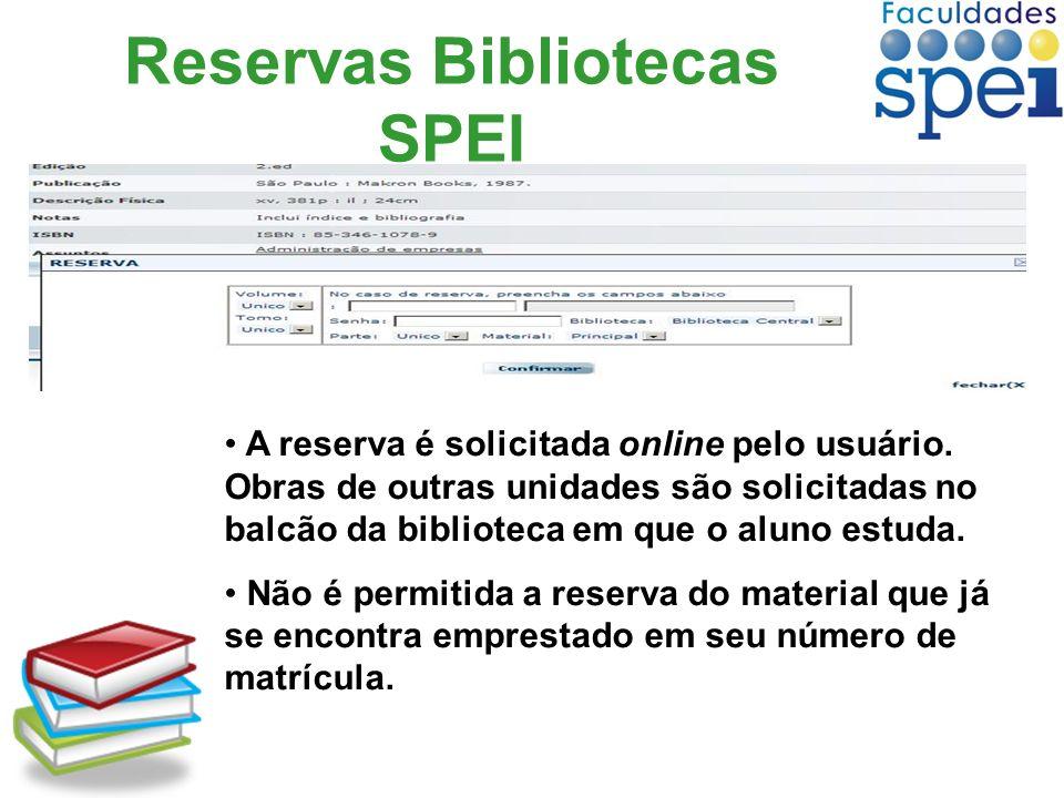 Reservas Bibliotecas SPEI
