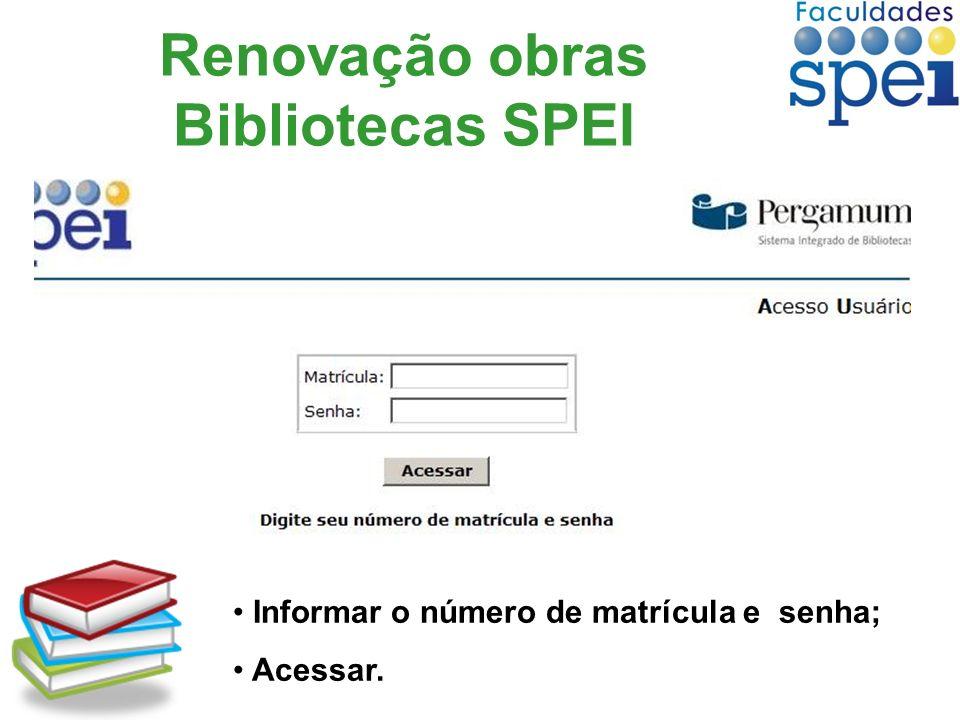 Renovação obras Bibliotecas SPEI