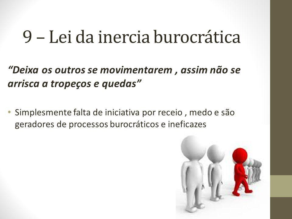 9 – Lei da inercia burocrática