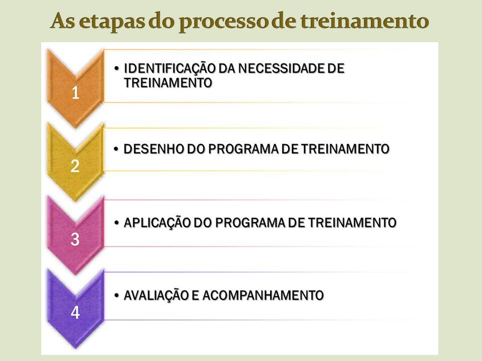 As etapas do processo de treinamento