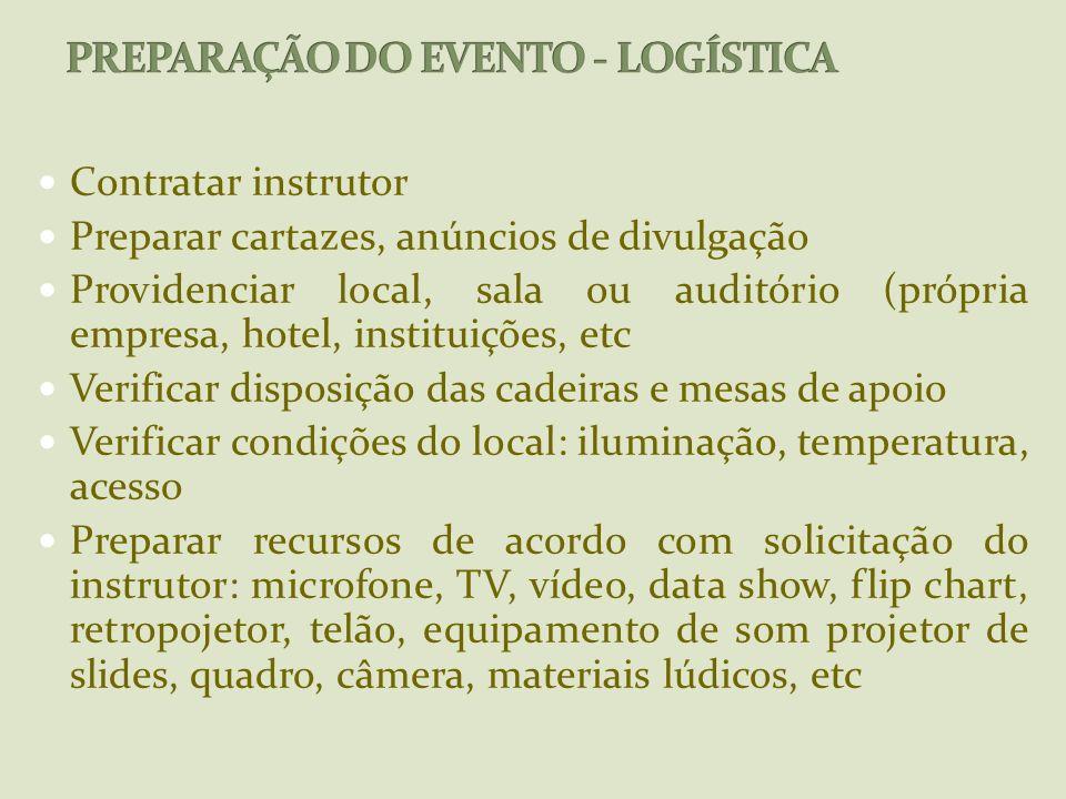 PREPARAÇÃO DO EVENTO - LOGÍSTICA