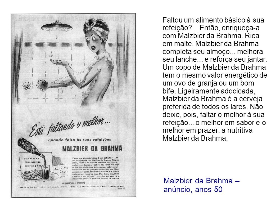 Malzbier da Brahma – anúncio, anos 50