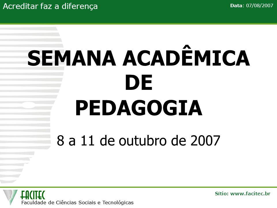 SEMANA ACADÊMICA DE PEDAGOGIA