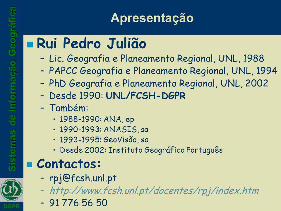 Rui Pedro Julião Apresentação Contactos:
