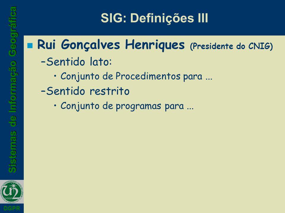 Rui Gonçalves Henriques (Presidente do CNIG)