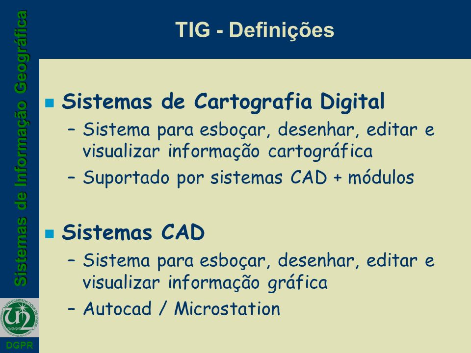 Sistemas de Cartografia Digital