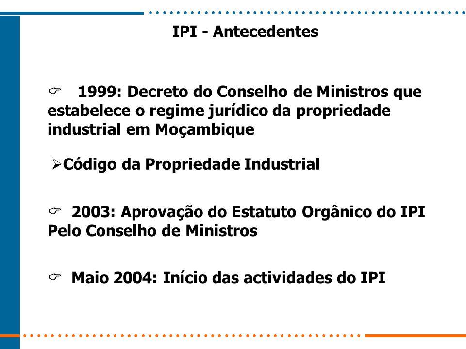  1999: Decreto do Conselho de Ministros que