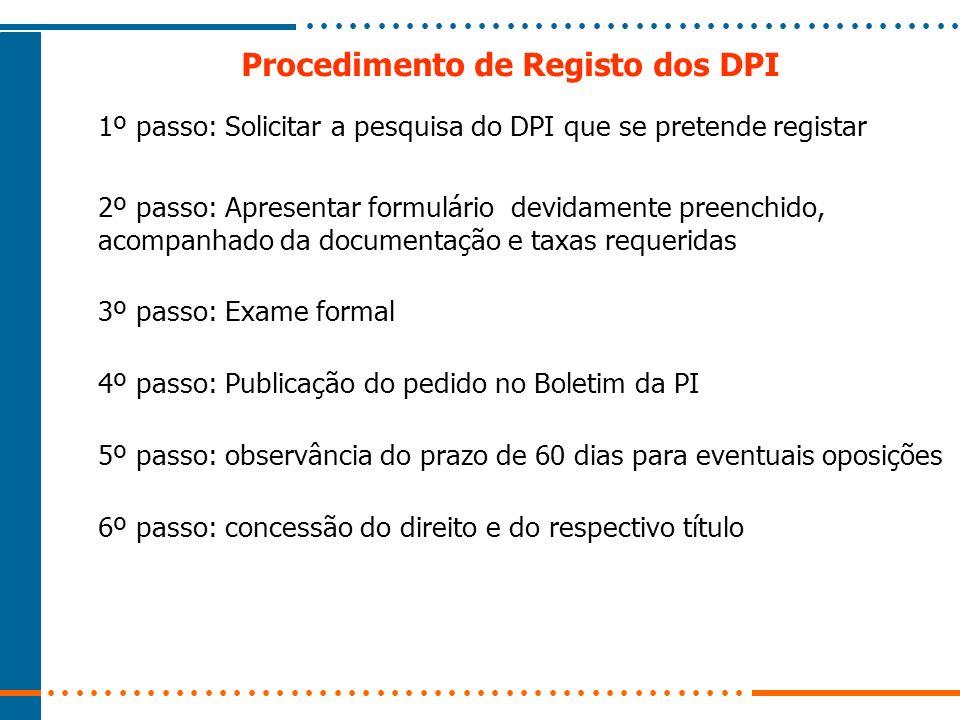 Procedimento de Registo dos DPI