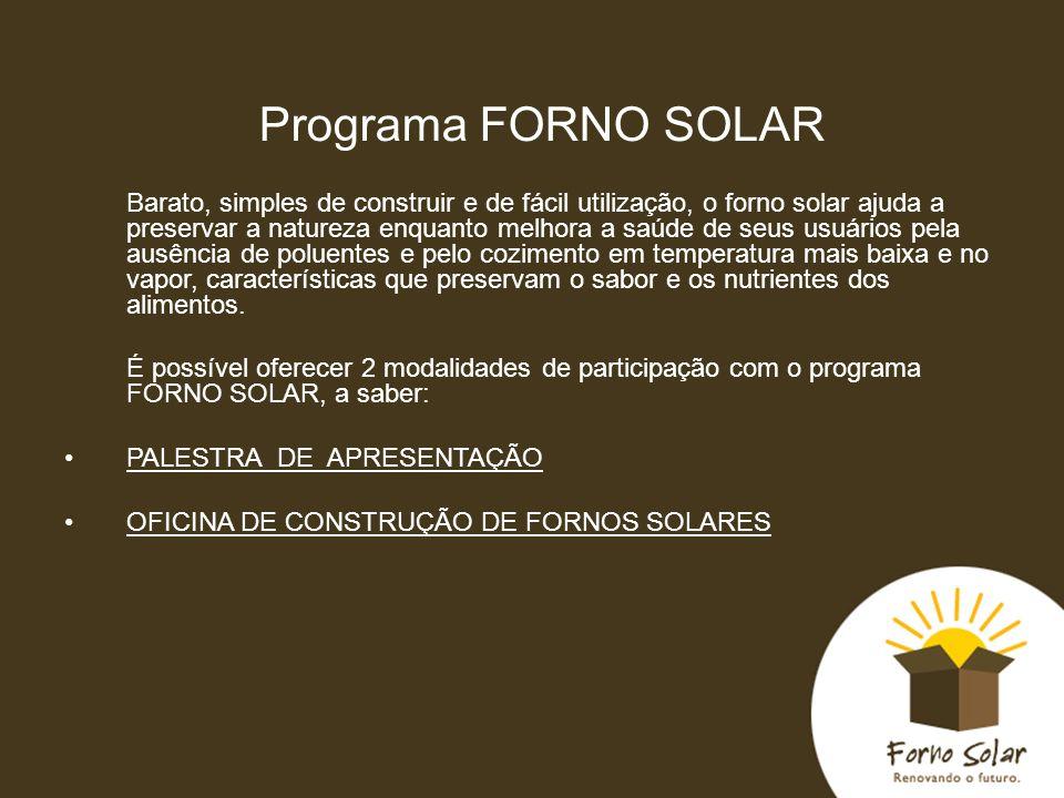 Programa FORNO SOLAR