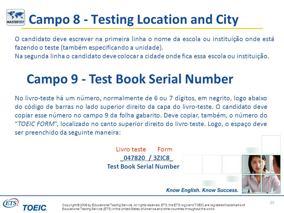 Campo 8 - Testing Location and City