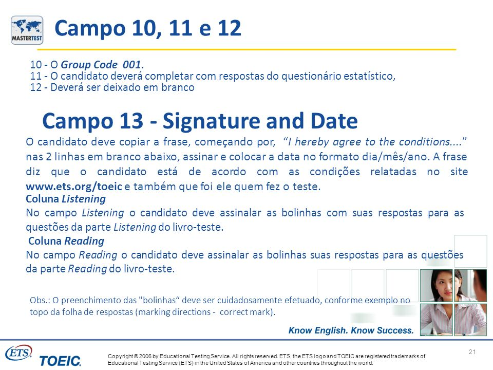 Campo 13 - Signature and Date