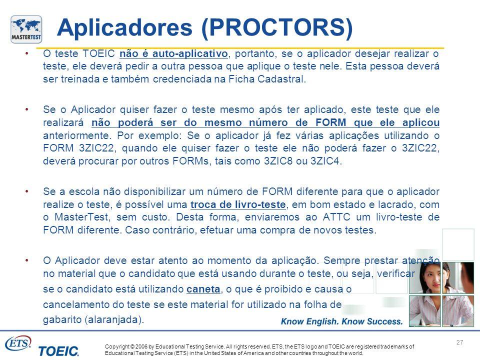 Aplicadores (PROCTORS)