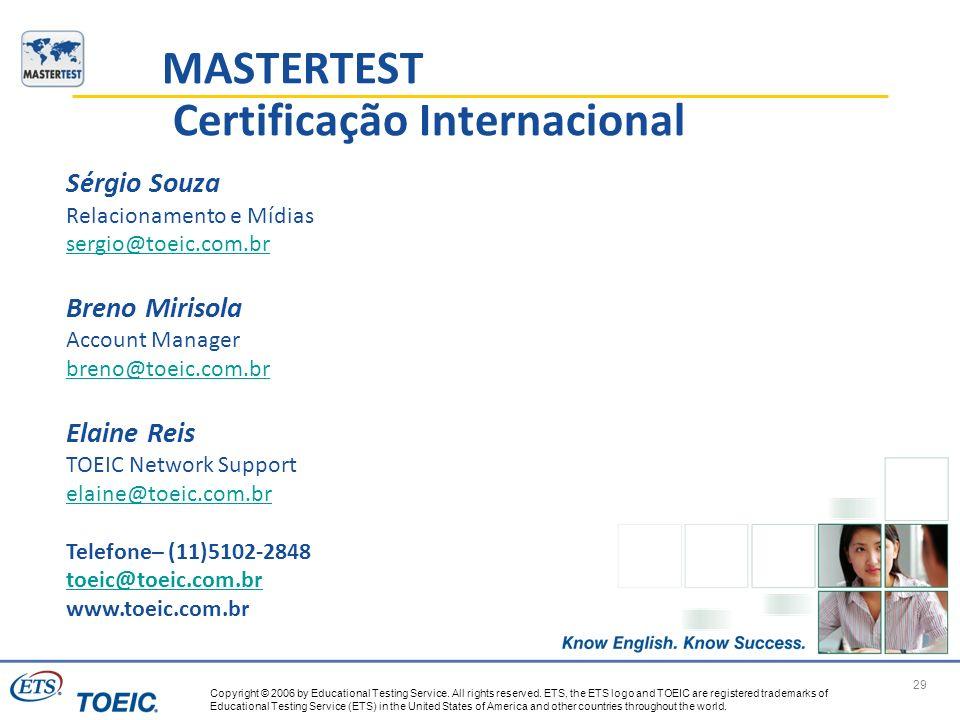 MASTERTEST Certificação Internacional