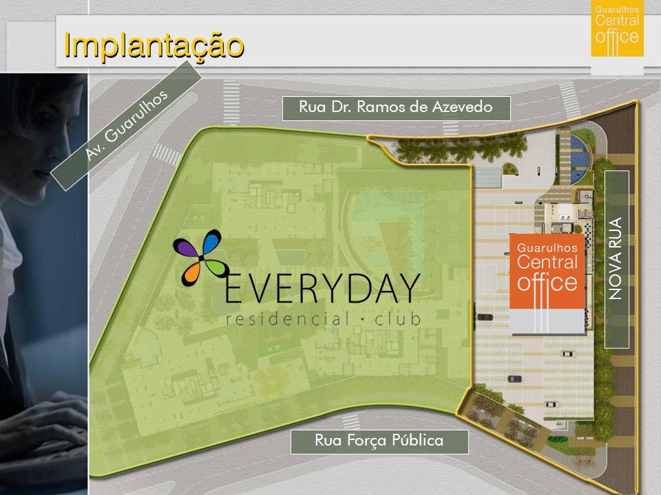 Implantação Av. Guarulhos Rua Dr. Ramos de Azevedo NOVA RUA