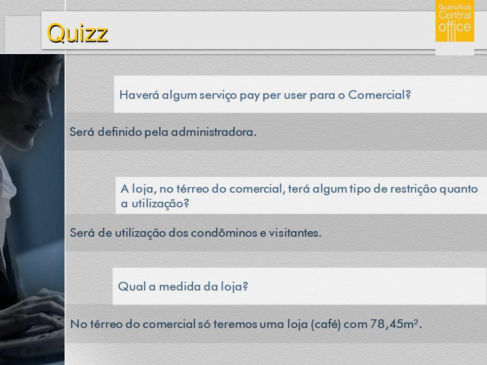 Quizz Haverá algum serviço pay per user para o Comercial