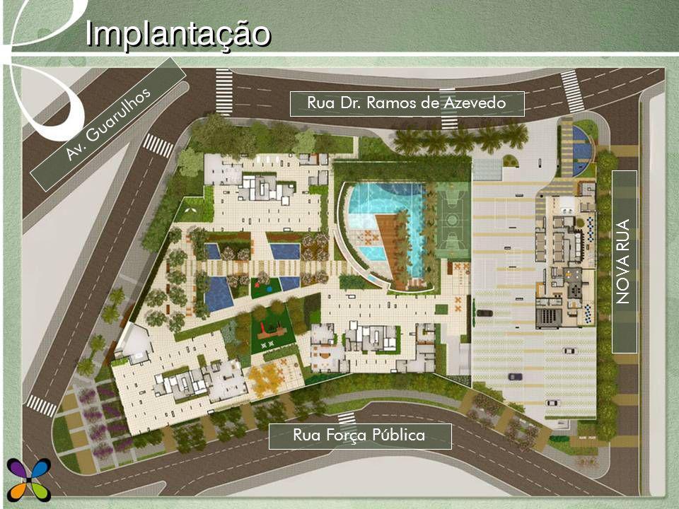 Implantação Rua Dr. Ramos de Azevedo Av. Guarulhos NOVA RUA