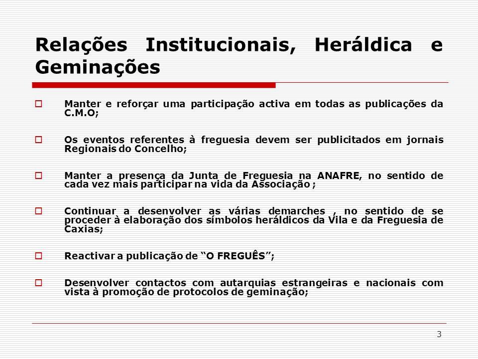 Relações Institucionais, Heráldica e Geminações