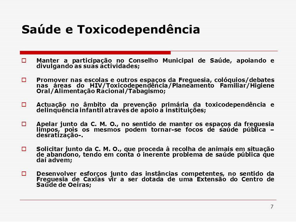 Saúde e Toxicodependência