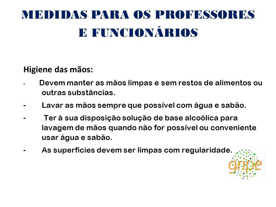 MEDIDAS PARA OS PROFESSORES