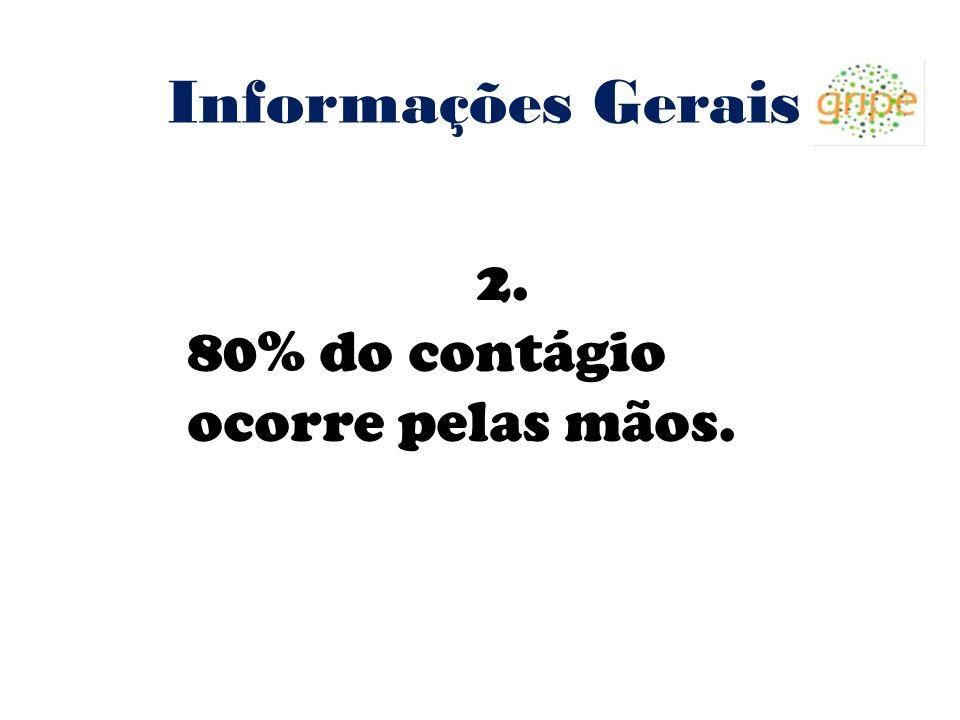 Informações Gerais 2. 80% do contágio ocorre pelas mãos. 3 3